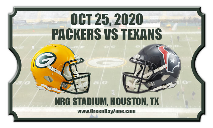 Green Bay Packers Vs Houston Texans Football Tickets 10 25 20